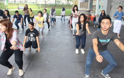Healthy Life Style: Morning Sport at Campus