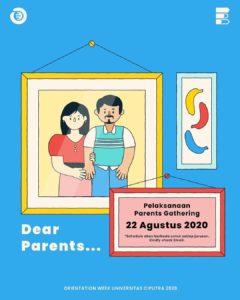 Parents Gathering untuk Mahasiswa Baru CBZ 2020