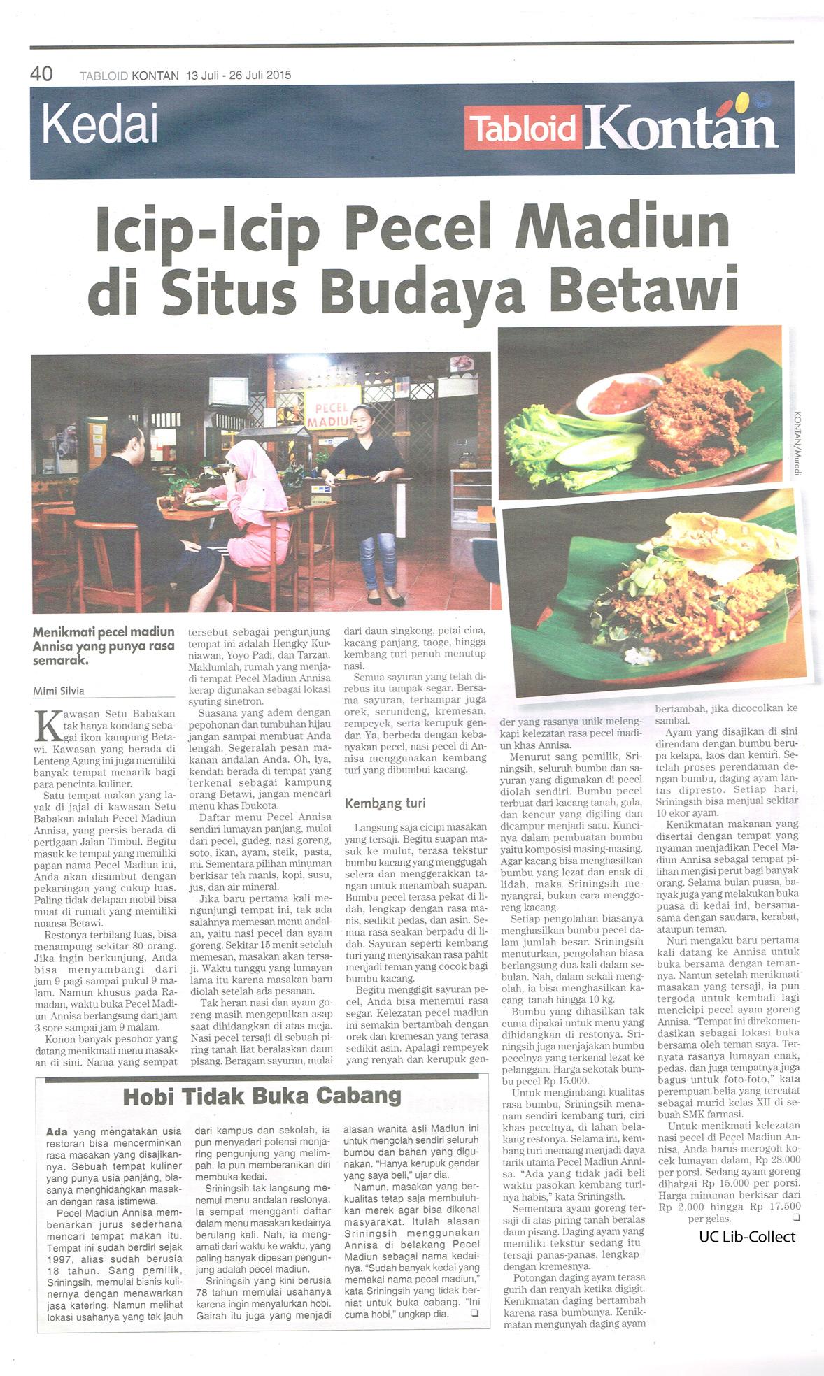 Icip-icip-Pecel-Madiun-di-Situs-Budaya-Betawi.-Tabloid-Kontan.-13-Juli-26-Juli-2015.Hal.40
