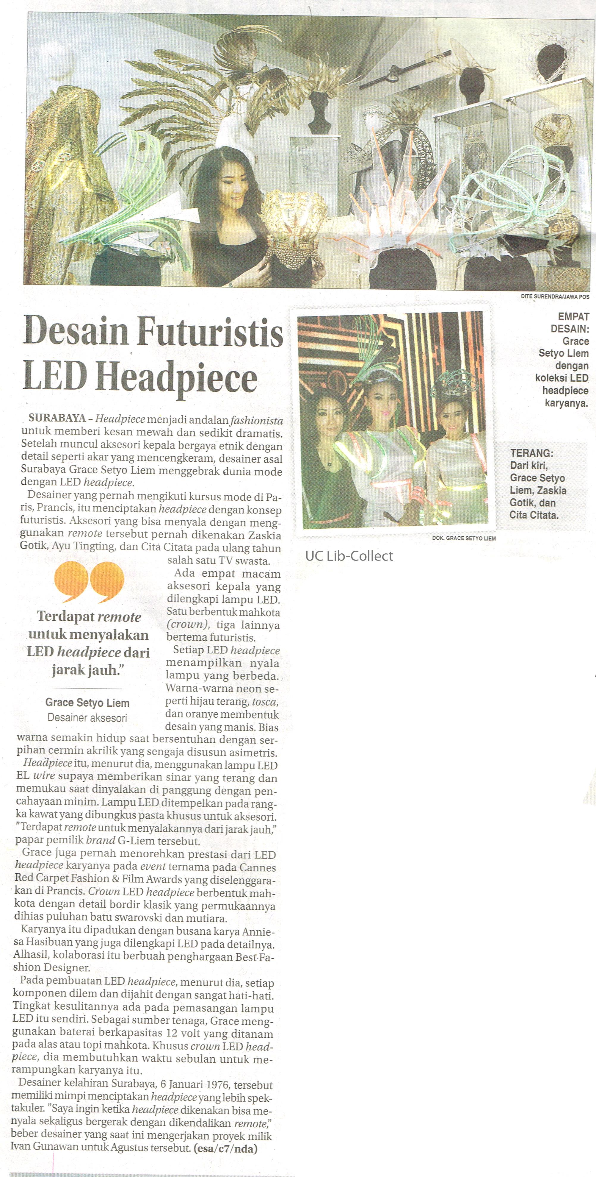 Desain Futuristis LED Headpiece Jawa Pos Hal 36