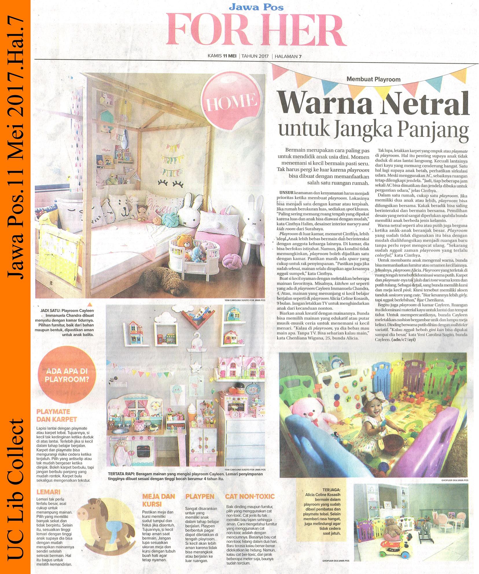 Warna Netral untuk Jangka Panjang. Jawa Pos.11 Mei 2017.Hal.7