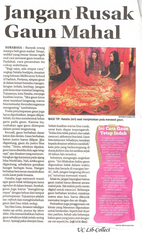 Jangan Rusak GAun Mahal. Jawa Pos 6 Januari 2014.Hal.40