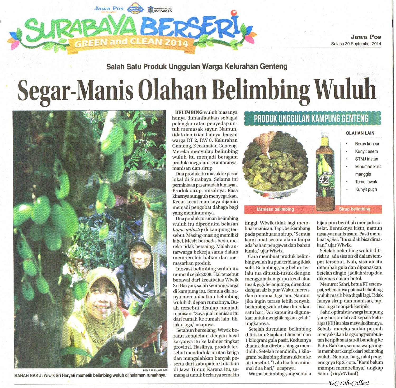 Segar Manis Olahan Belimbing Wuluh.Jawa Pos.30 September 2014.Hal.40