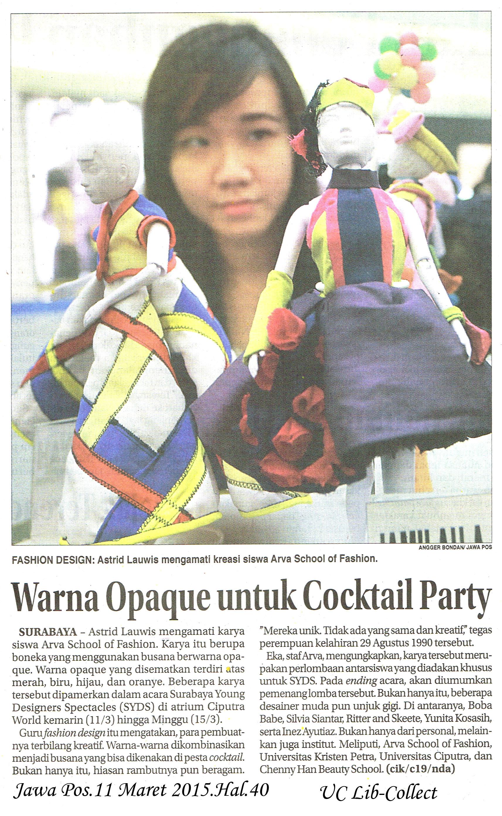 Warna Opaque untuk Cocktail Party. Jawa Pos.11 Maret 2015.Hal.40 db49d30104