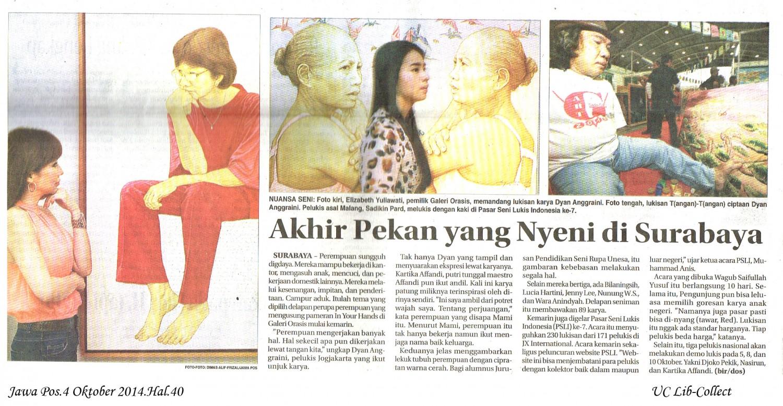Akhir Pekan yang Nyeni di Surabaya. Jawa Pos.4 Oktober 2014.Hal.40