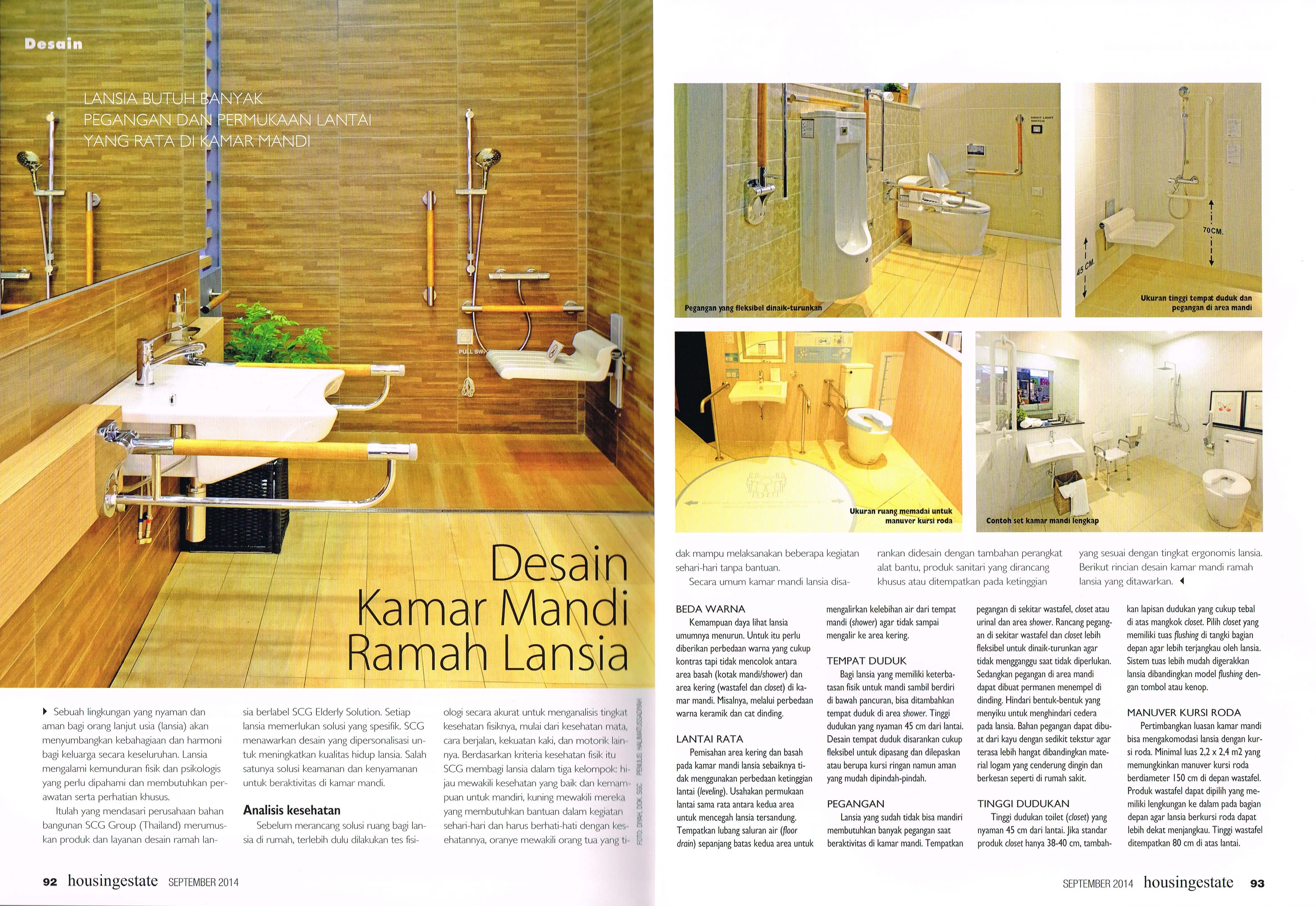 Desain Kamar Mandi Ramah Lansia Universitas Ciputra