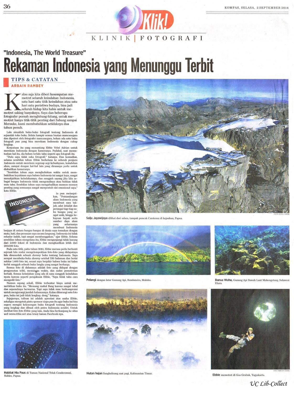 Rekaman Indonesia yang Menunggu Terbit. Kompas. 2 September 2014.Hal.36