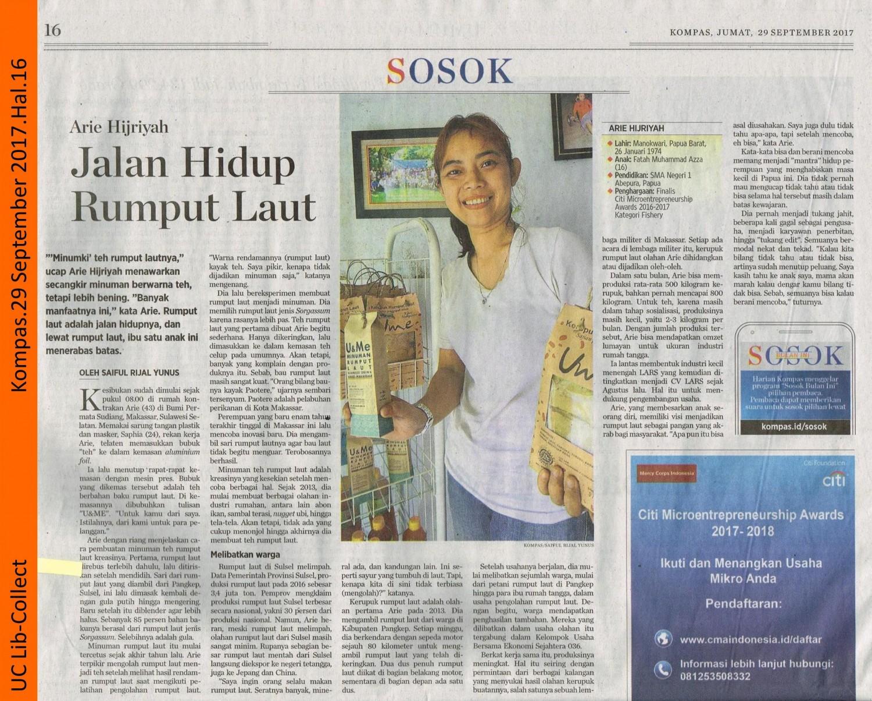 Arie Hijriyah_Jalan Hidup Rumput Laut. Kompas. 29 September 2017. Hal. 16 001-page-001
