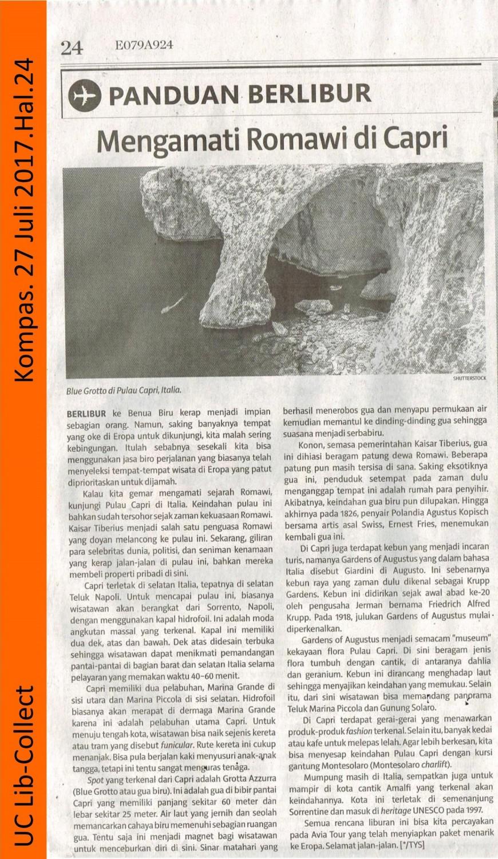 Mengamati Romawi di Capri.Kompas. 27 Juli 2017.Hal 24 001-page-001