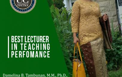 """Dosen MM meraih Penghargaan """"Best Lecturer in Teaching Performance"""""""