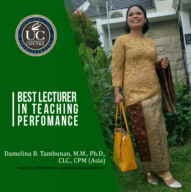 "Dosen MM meraih Penghargaan ""Best Lecturer in Teaching Performance"""