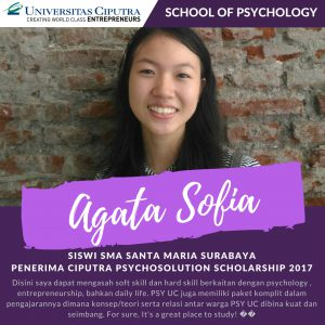 Ciputra Psychosolution Scholarship: Beasiswa PSY UC up to Full Free 8 Semester