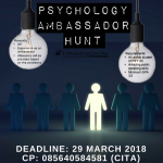 [NOW HIRING] Psychology Ambassador Hunt