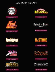 Anime Typeface