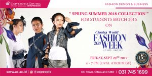 FDB Students On Ciputra World Fashion Week
