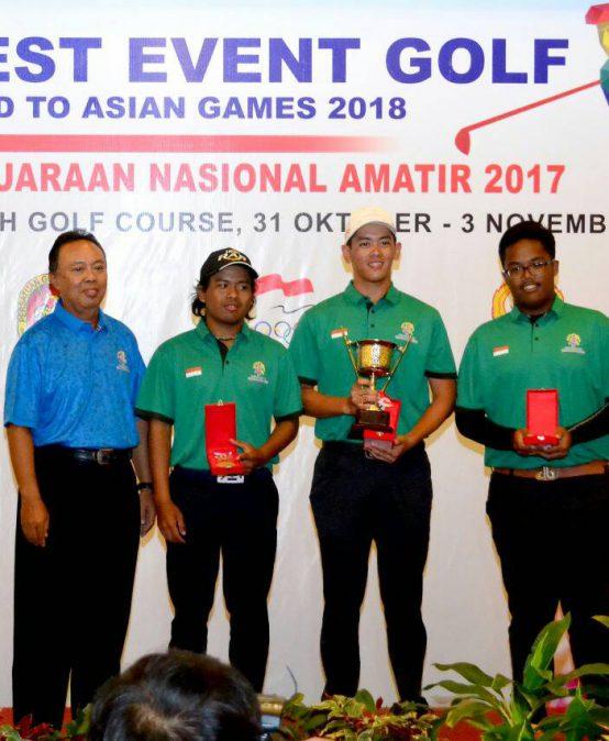 Juara 1 kategori Beregu dan peringkat 9 kategori Perorangan dalam Kejuaraan Nasional Golf Amatir 2017