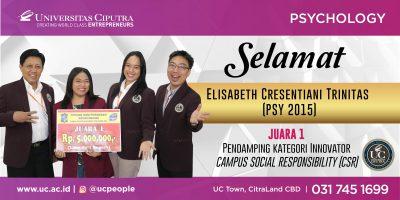 Juara 1 Pendamping Kategori Innovator – Campus Social Responsibility (CSR)