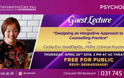 """Guest Lecture: """"Designing an Integrative Approach to Conselling Practice """""""