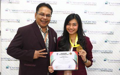 Juara 1 Kyorugi KU 21 Putri Kejuaraan Taekwondo Piala Walikota Surabaya Se-Jawa Timur