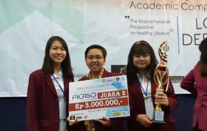 Juara II dalam Lomba Cerdas Cermat yang diselenggarakan oleh Universitas Katolik Soegijapranata dalam event PICASO 2018