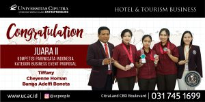 Congratulatuion Juara II kompetisi Pariwisata Indonesia Business Event Proposal