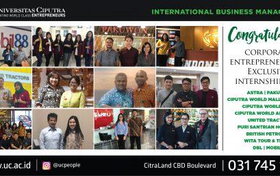 Congratulation – Corporate Entrepreneurship Exclusive Internship 2018