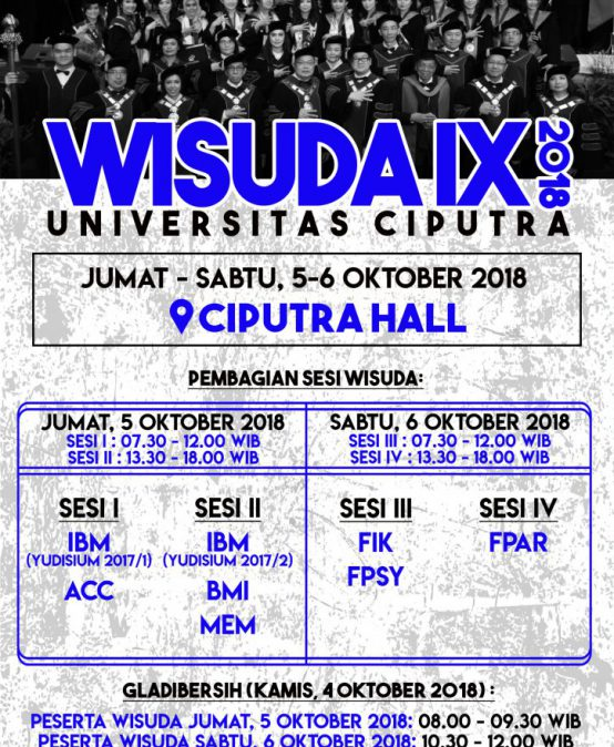 Wisuda IX (2018) Universitas Ciputra