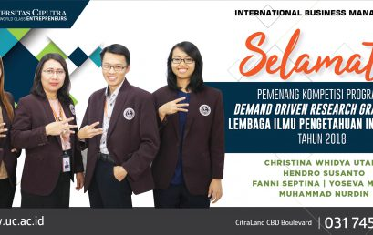Selamat Pemenang Kompetisi Program – Demand Driven Research Grant LIPI 2018