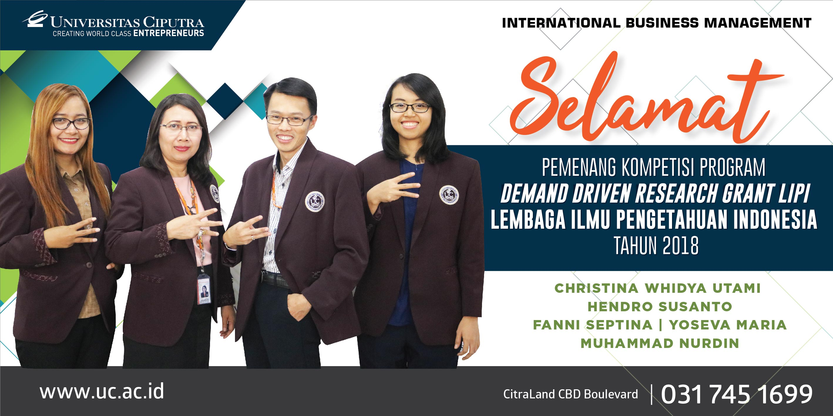 Selamat Pemenang Kompetisi Program – Demand Driven Research Grant LIPI 2018