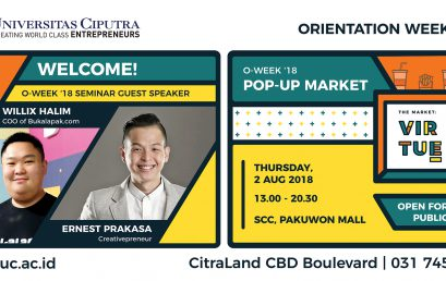 Orientation Week 2018 – Seminar Day – Pop Up Market