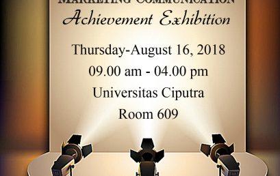 Marketing Communication – Achievement Exhibition