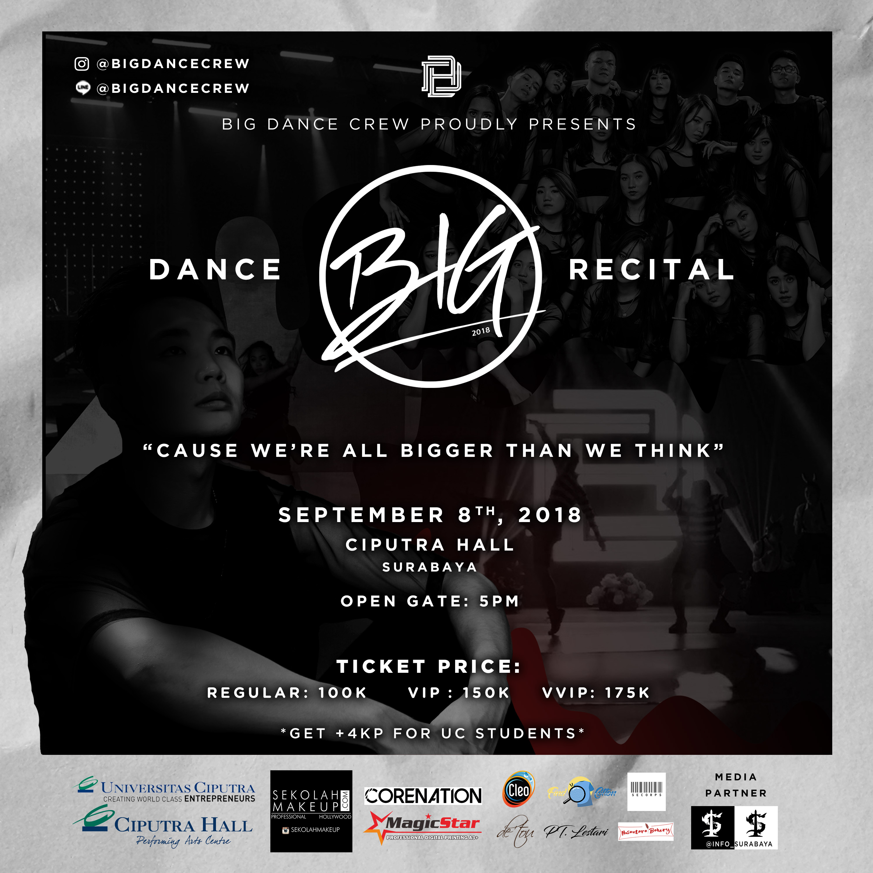 "BIG DANCE CREW Proudly Presents "" BIG """