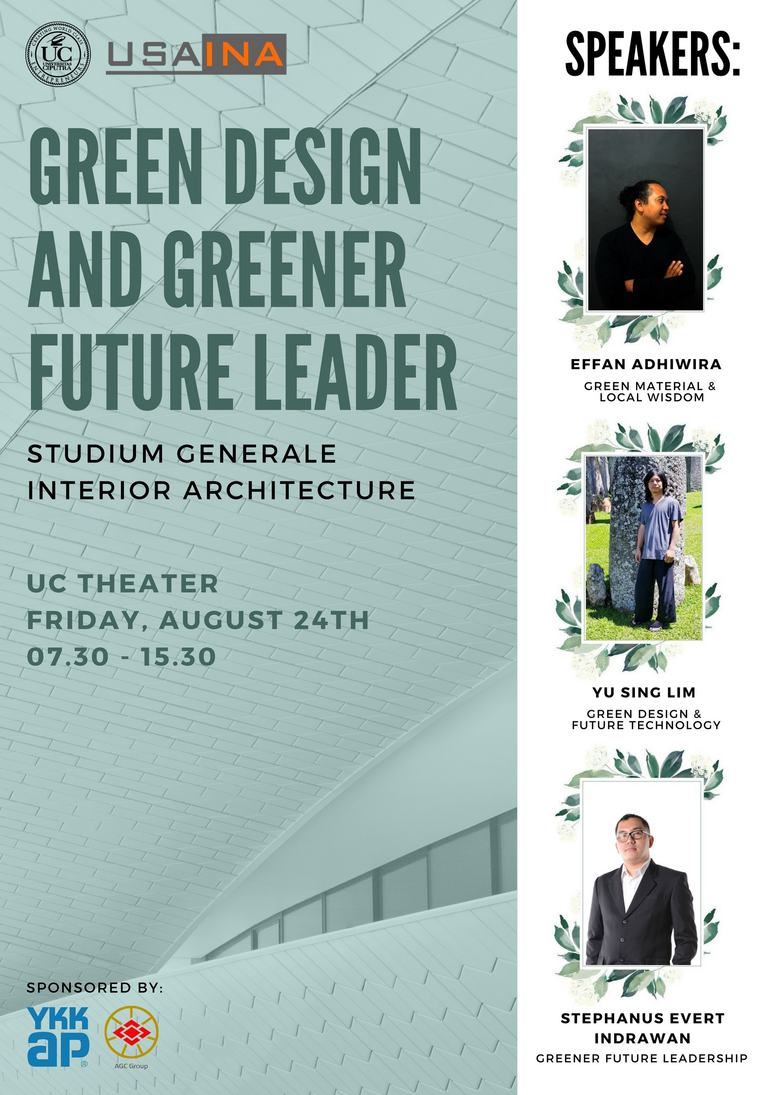 """Green Design and Greener Future Leaders"" Studium Generale Interior Architecture"