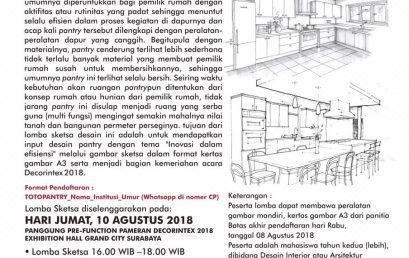 Lomba Design Sketsa Pantry By TOTO Kitchen