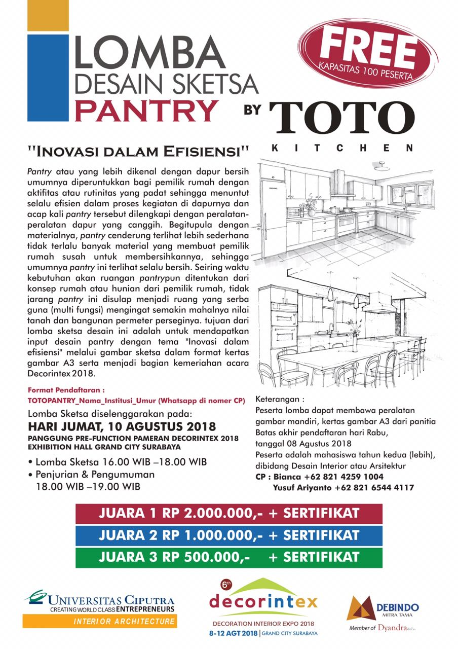 Lomba Design Sketsa Pantry By TOTO Kitchen