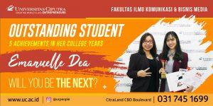 Emanuelle Dea – Outstanding Student of Fakultas Ilmu Komunikasi & Bisnis Media