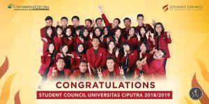 Congratulations – Student Council Universitas Ciputra 2018/2019