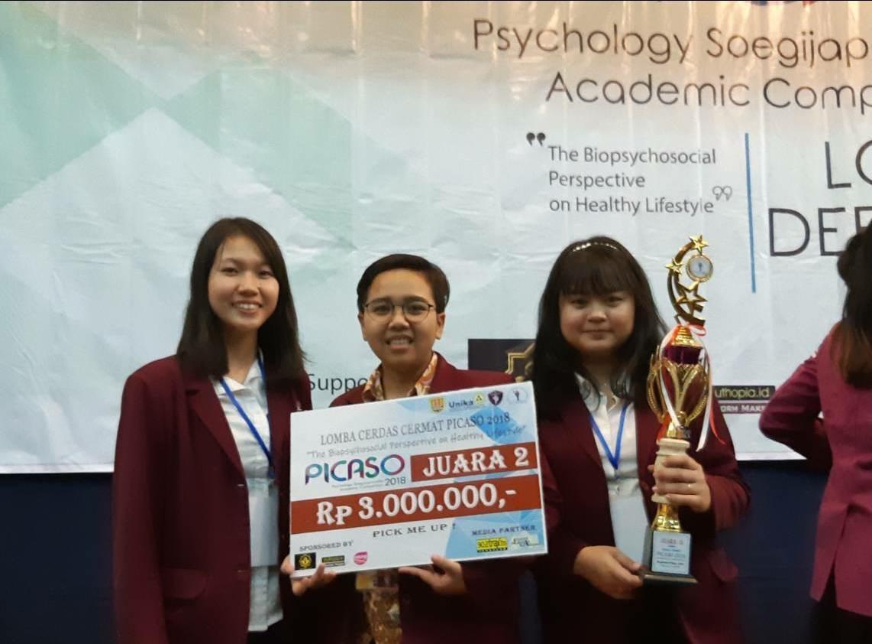 PSY UC Raih Juara 2 Lomba Cerdas Cermat PICASO 2018